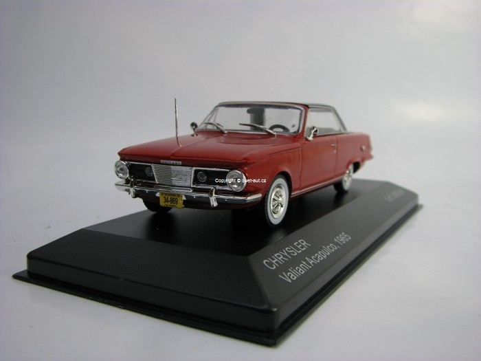 Chrysler Valiant Acapulco 1965 Red 1:43 White Box
